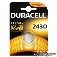 DURACELL 2430 BATTERIA LITIO 3V DL2430 ECR2430 CR2430 PILA BOTTONE
