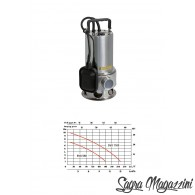 SPERONI POMPA SOMMERSA INOX ACQUA SCURA 1100W IMMERSIONE 60MM 10MT